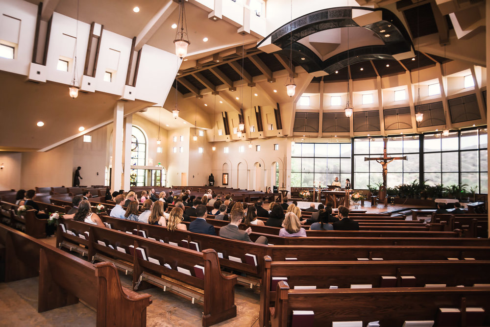 Weddings at St St Therese Carmel Church in San Diego.