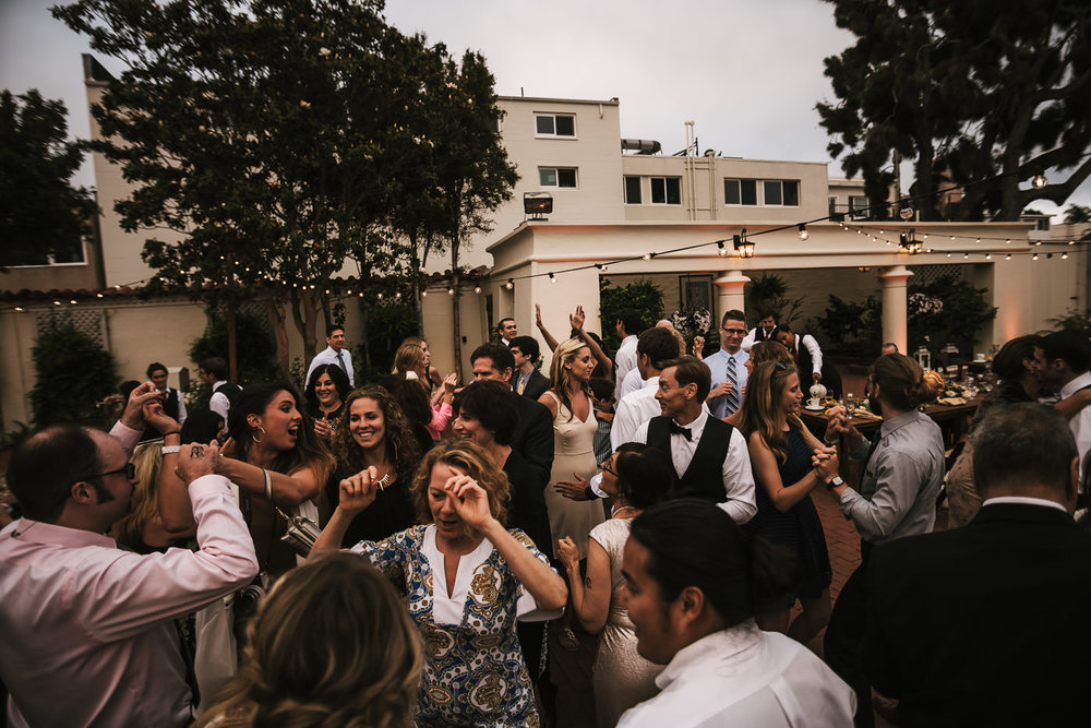 Weddings guests tear it up on the dance floor at this Darlington House reception.
