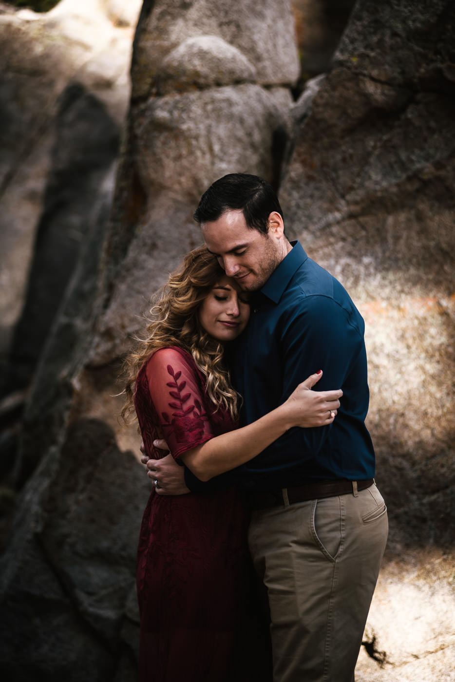 Beautiful engagement photos in the mountains.