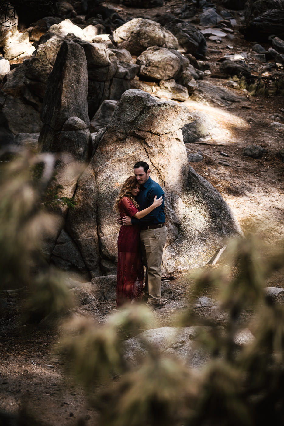 WIlderness engagement photos for free spirited couples.