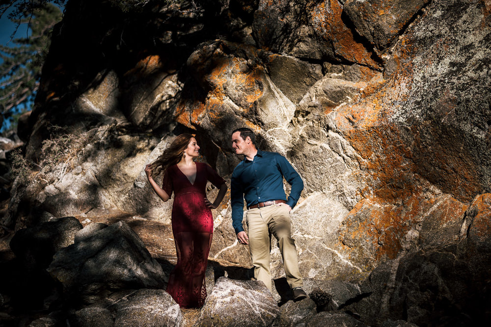 Mountain engagements for couples in love,
