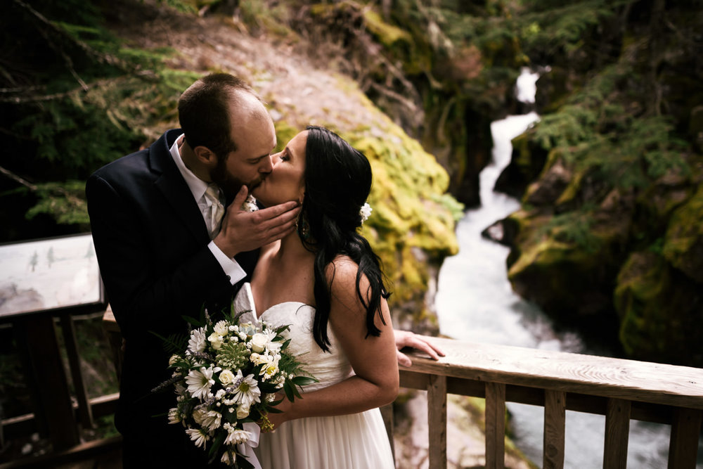 Eloping to Glacier National Park in Montana.