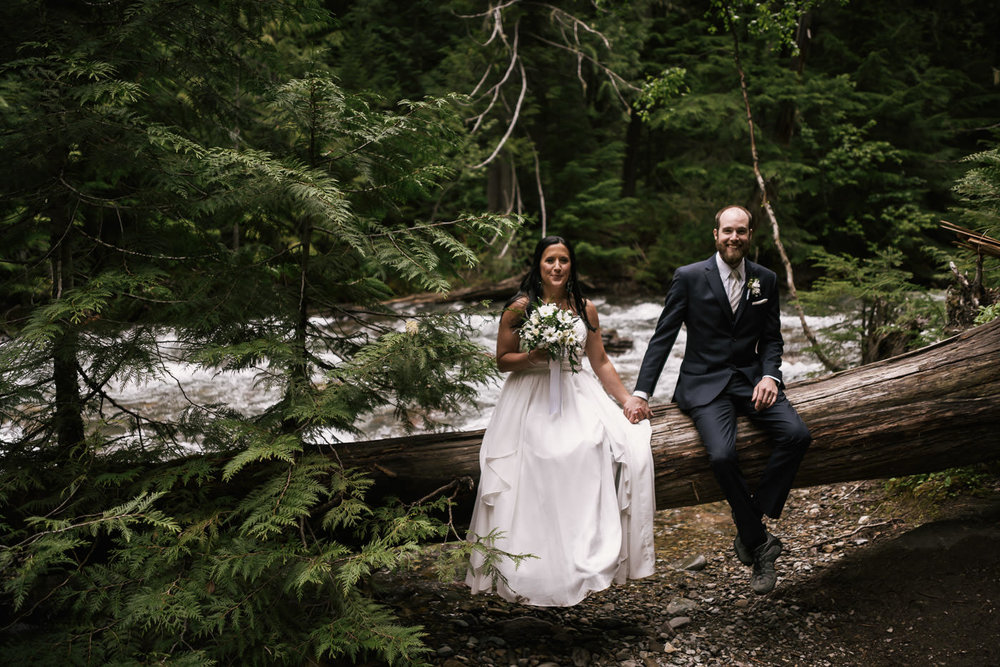 Romantic wedding photography in Glacier National Park.