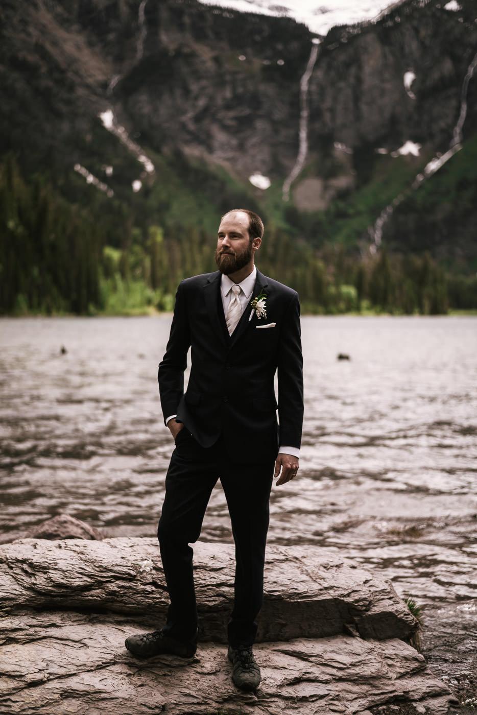 Portrait of an adventurous groom.