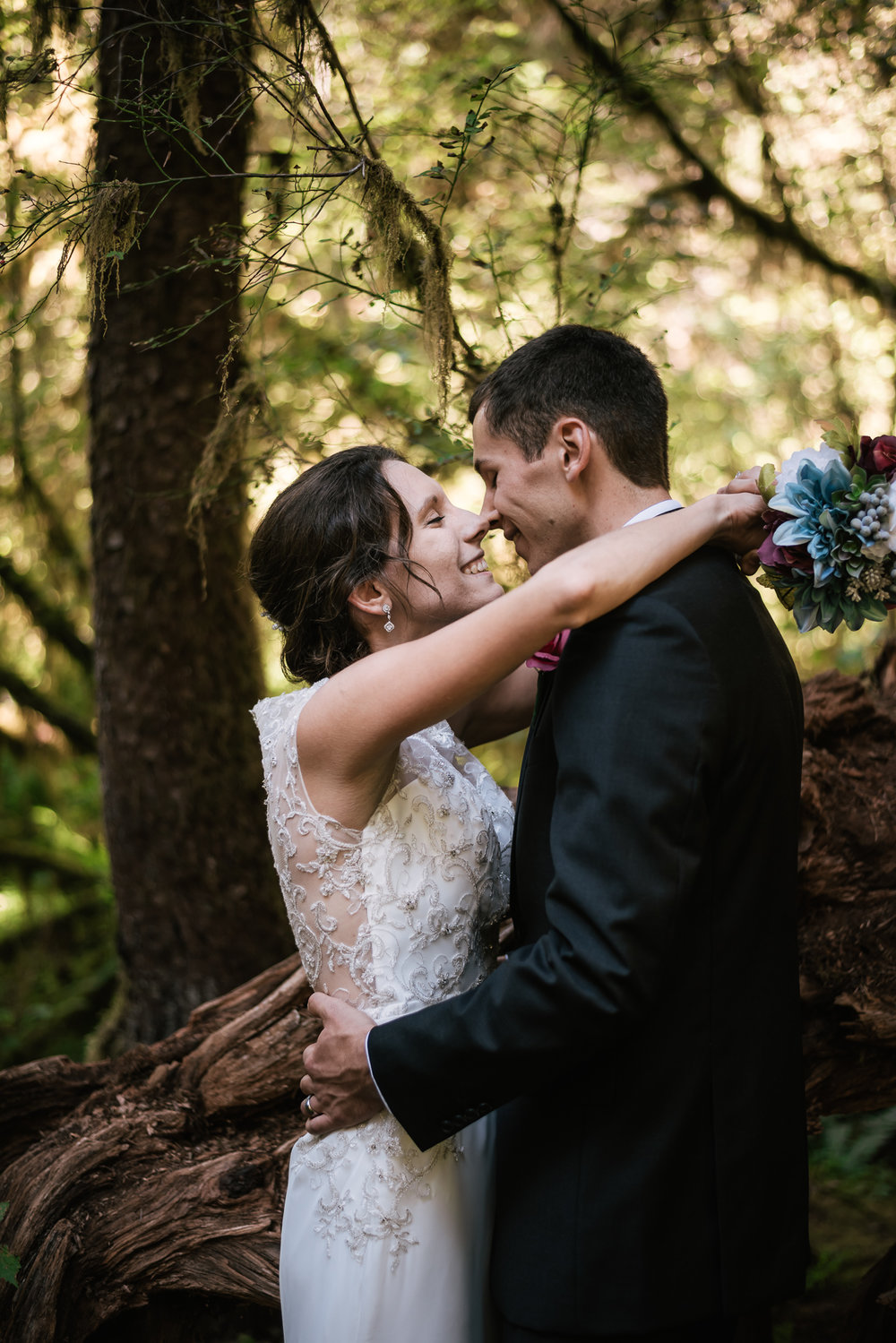 Eloping to the Hoh Rainforest in Olympic National Park.