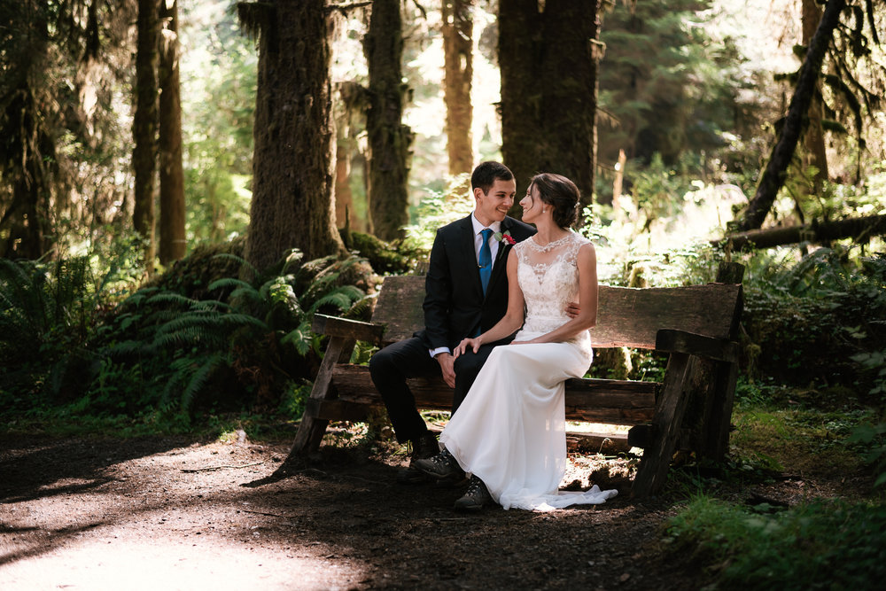 Hoh Rainforest elopement photographer near Olympic National Park.