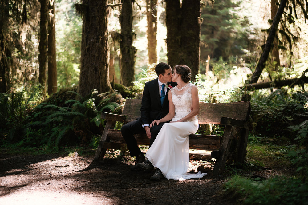 Washington elopements in Olympic National Park.