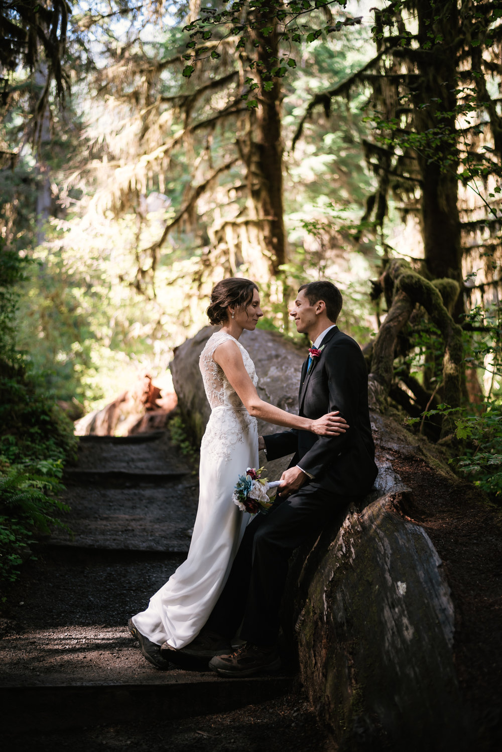 Best Olympic National Park elopement photographer.