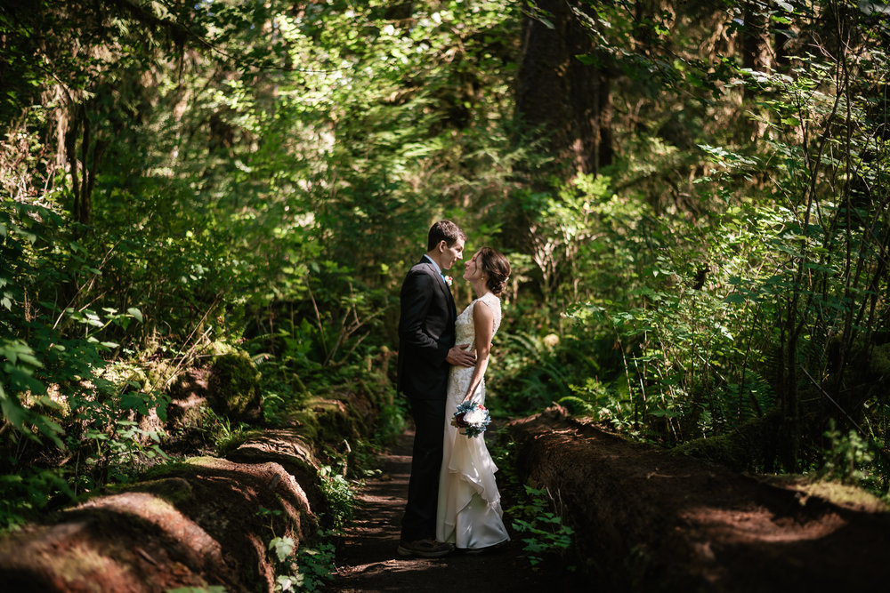 Romantic and adventurous elopement photography in Olympic National Park.