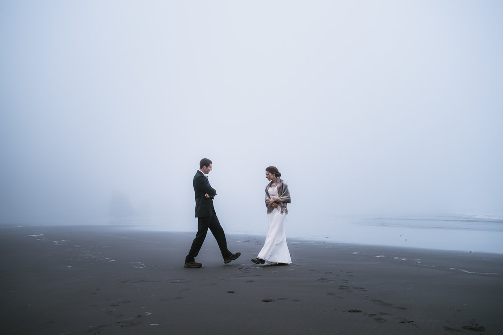 Romance on the beaches of the Washington Coast.