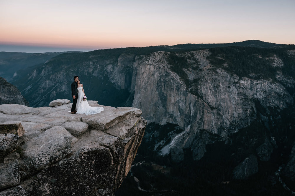 Adventurous national park elopement photography sessions.