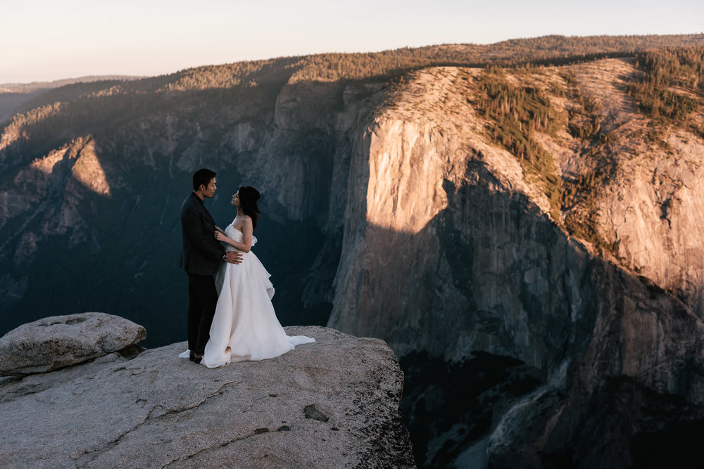 Yosemite elopement adventure sessions.
