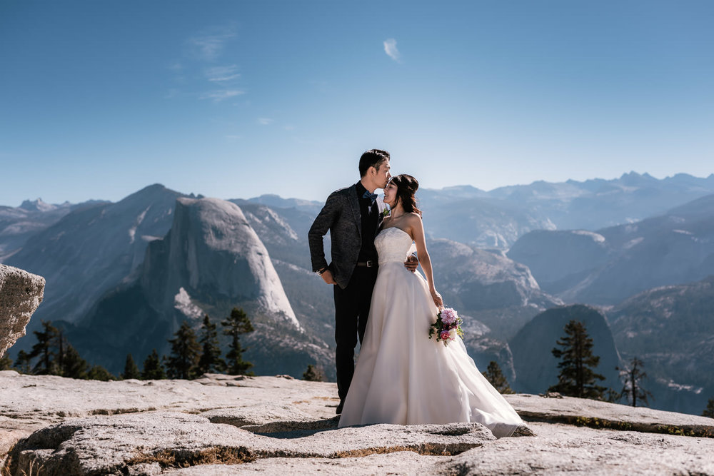 Eloping to sentinel dome for an unforgettable wedding experience.
