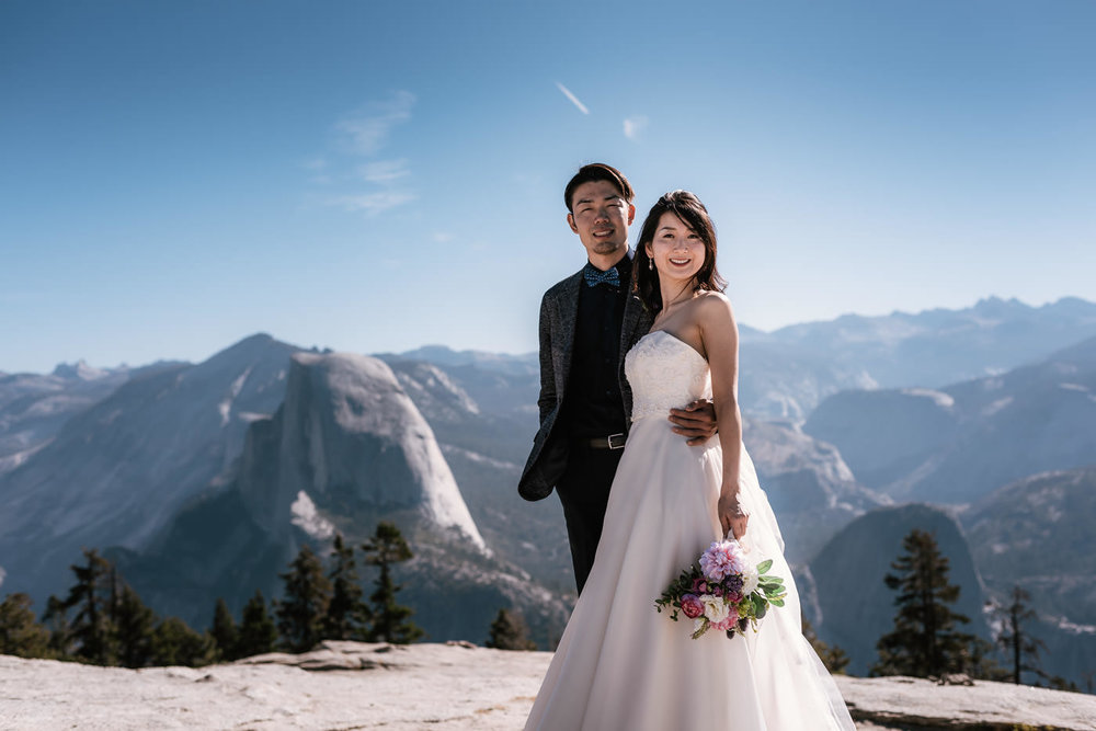 Sentinel dome makes for an incredible elopement destination.