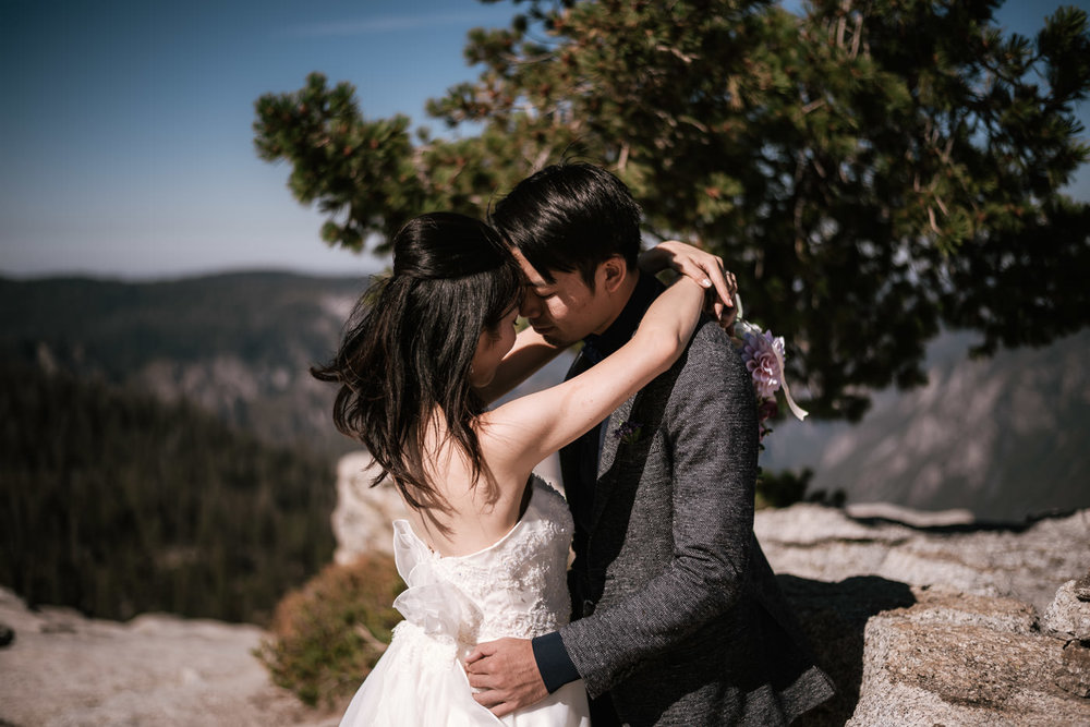 Intimate wedding photographer in Yosemite California.
