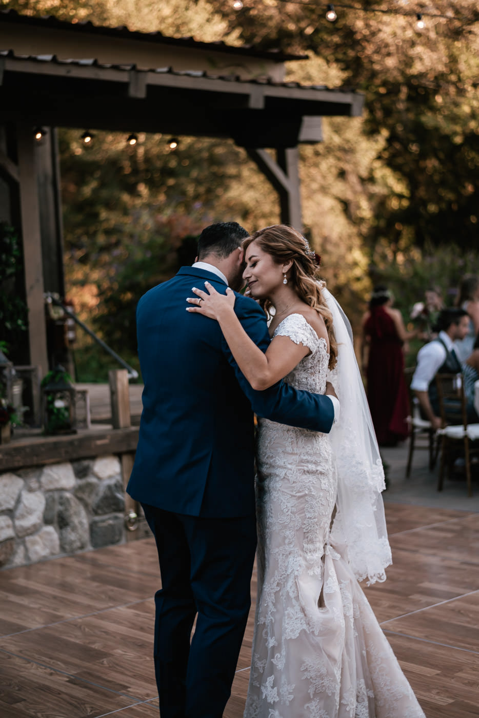 Couple has a lovely first dance at their reception.