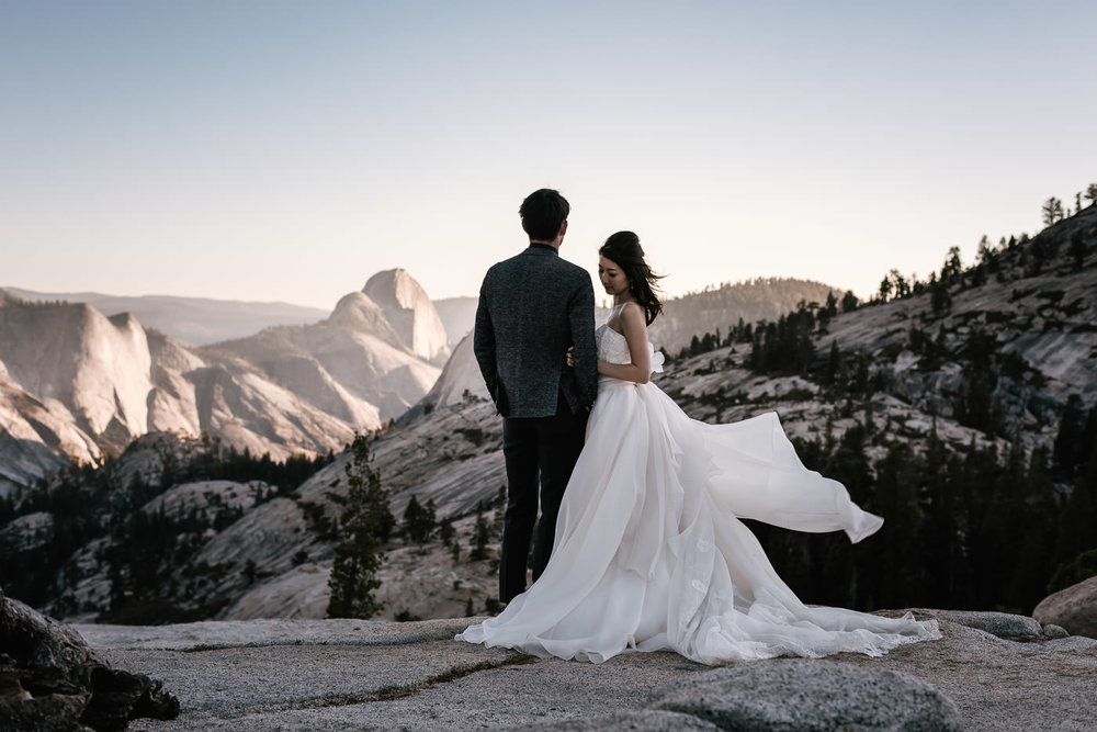 THere's nothing quite like a yosemite wedding - Your love story has always been a grand adventure, so what could be a more fitting destination to tie the knot than the majestic wilderness of Yosemite National Park? Whether you're eloping to Yosemite or having a traditional wedding, the park's magic will ensure this next great chapter of your love story will be nothing short of incredible. This magical valley has enthralled mankind for thousands of years with its' majestic granite domes, quiet meadows, towering sequoias, and thundering waterfalls. These natural monuments create an unforgettable venue for your wedding and provide a backdrop with which we can create something you'll treasure for a lifetime. Let's be adventurous!