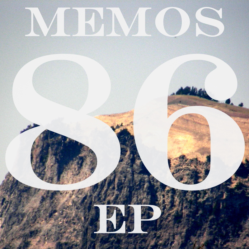 Cover art for the Memos EP, 86.