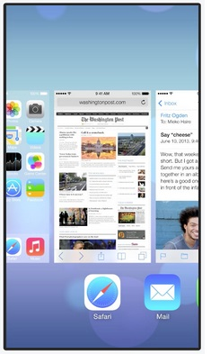 The visual elements of iOS 7's multitasking looks a lot like Palm's infamous WebOS