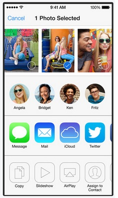 AirDrop on iOS 7 makes sharing data with multiple nearby iOS users as easy as tapping on their icons once