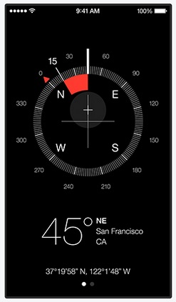 The new compass app in iOS 7 looks like it is straight from a Sci-fi movie- hope it works better this time not asking to be re-calibrated again and again