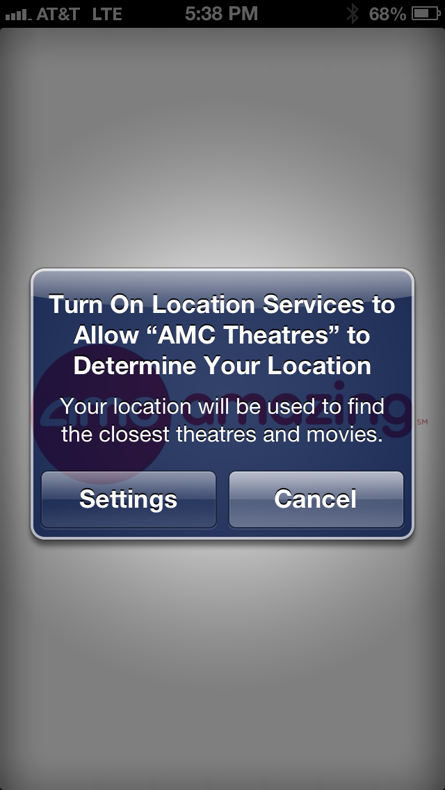 Every time an app wants to use your location it will give you an option to turn on the Location Services