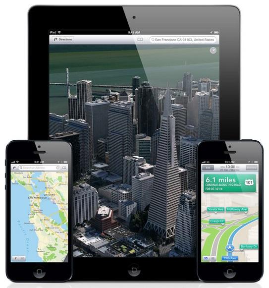 Apple Maps for iOS - Source: Apple.com