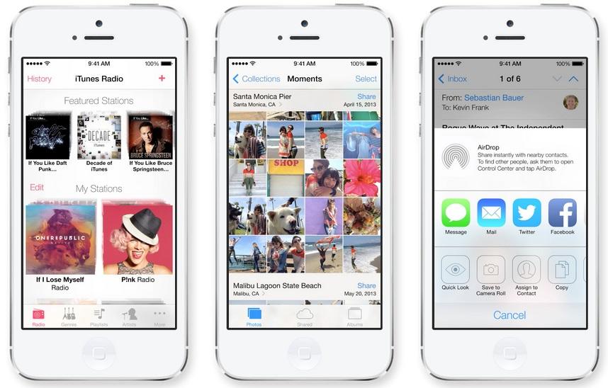 iOS 7 - Source: Apple.com