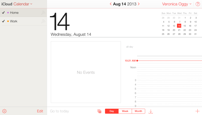 iCloud.com Calendar App redesigned to match iOS 7 design - Source: 9to5mac.com