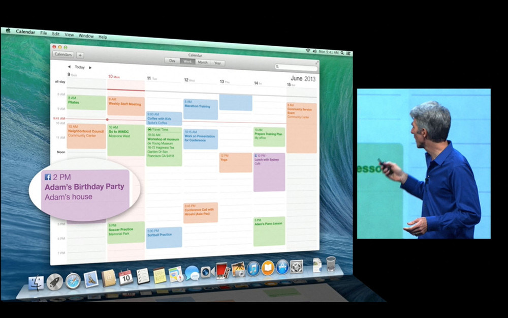 Mac OS X Maverics Calendar App redesigned to look flatter - Source: iMore.com