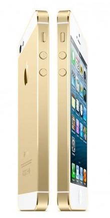 Gold iPhone 5S mock up - Source: AllThingsD.com