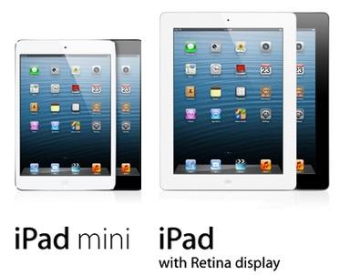 iPad mini v/s iPad - Source - Apple.com