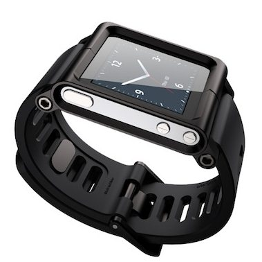 Apple's previous gen iPod Nano as a watch - Source: Bazanye.com