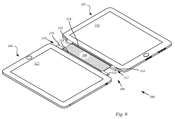 Apple's patent titled 'Magnetic attachment unit' (Source: USPTO via AppleInsider)