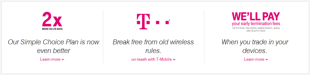 T-Mobile introduced new Smartphone pricing plans, separating out the service fees and the phone's price (Source:T-Mobile.com)