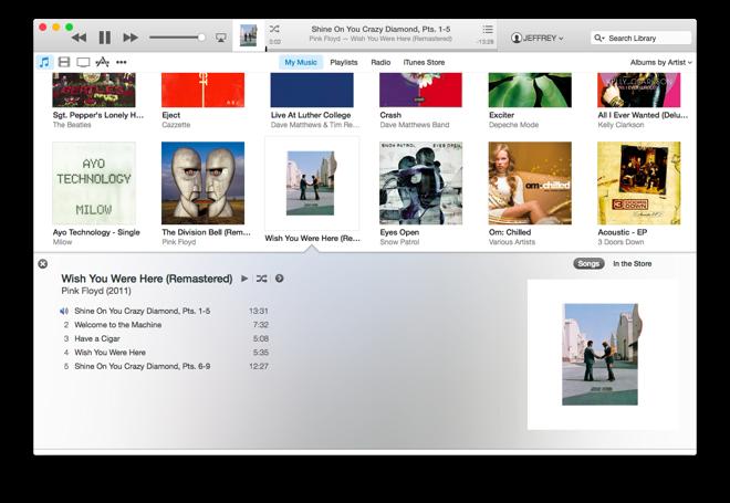 First look into iTunes 12 (Source: AppleInsider.com)