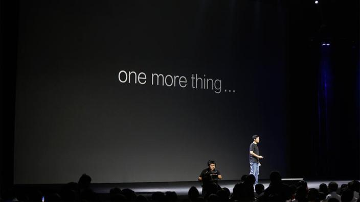 "Taking it one step further than any of the Apple copiers so far, Xiaomis CEO is seen stealing Steve Job's famous ""One more thing"" phrase as well (via 9to5mac)"