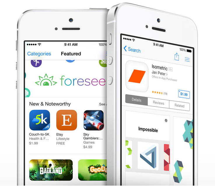 The Apple iOS App Store is a land of opportunities for the smart ones (Source: Apple.com)