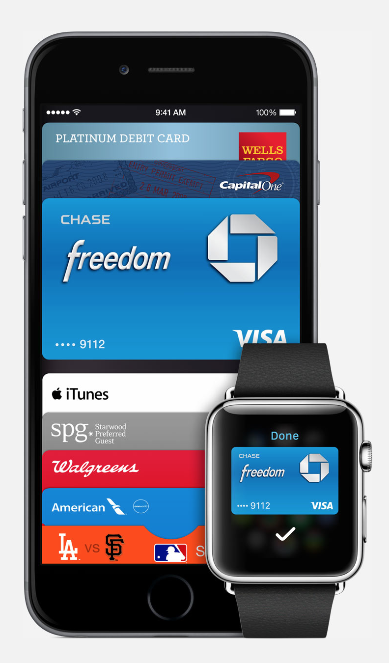 Apple, today announced Apple Pay, a service that enables iPhone and Apple Watch users to substitute their credit cards with iPhones and/or Apple Watches. (Source: Apple.com)