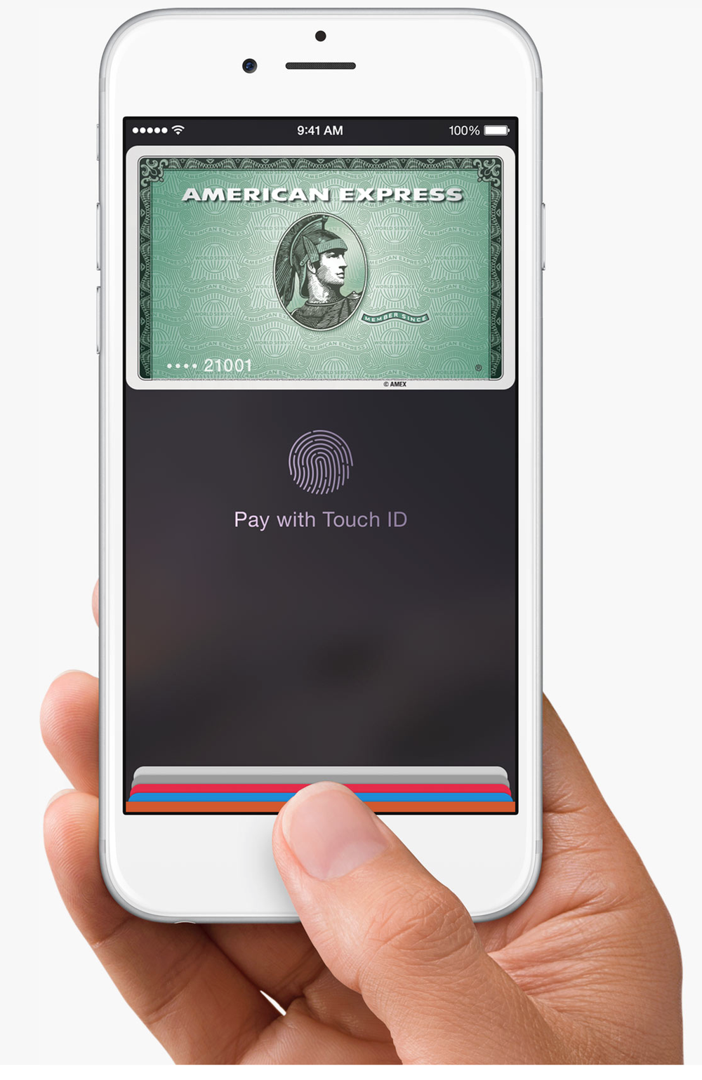 Apple Pay makes use of the NFC chip on the new Apple hardware along with the Touch IDs for authorizing payments securely and conveniently (Source: Apple.com)