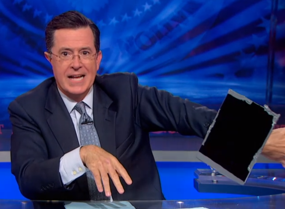 I like Colbert's iPad-Watch the best of all the smart watches out there... (Source: CNET.com)