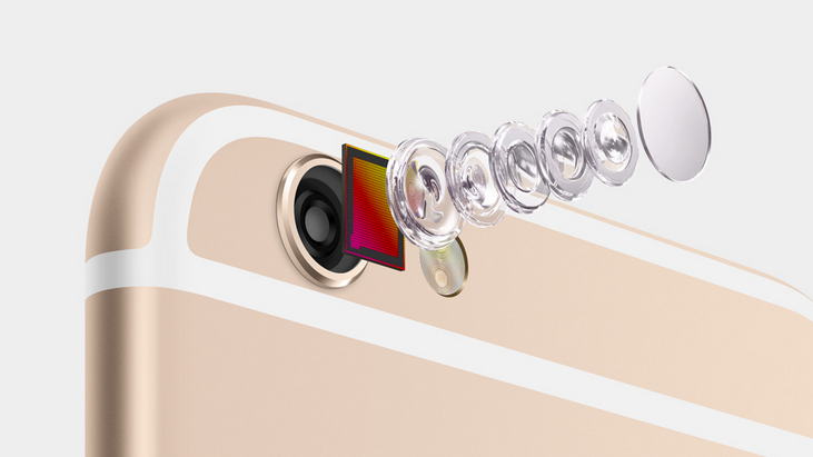 iPhone 6 Plus's bigger body means better internals that the iPhone 6, like a physical optical image stabilizer for its camera rather than just a digital one for the iPhone 6 (Source: Apple.com)