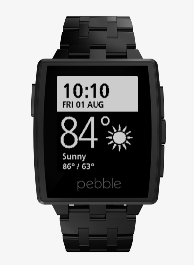 Pebble Steel smartwatch uses a black and white, e-paper display that consumes way less energy than a LCD hence resulting in almost a week of battery life (Source: GetPebble.com)