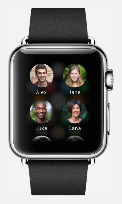 Apple Watch has a vibrant color LCD retina display that restricts its battery life significantly (Source: Apple.com)