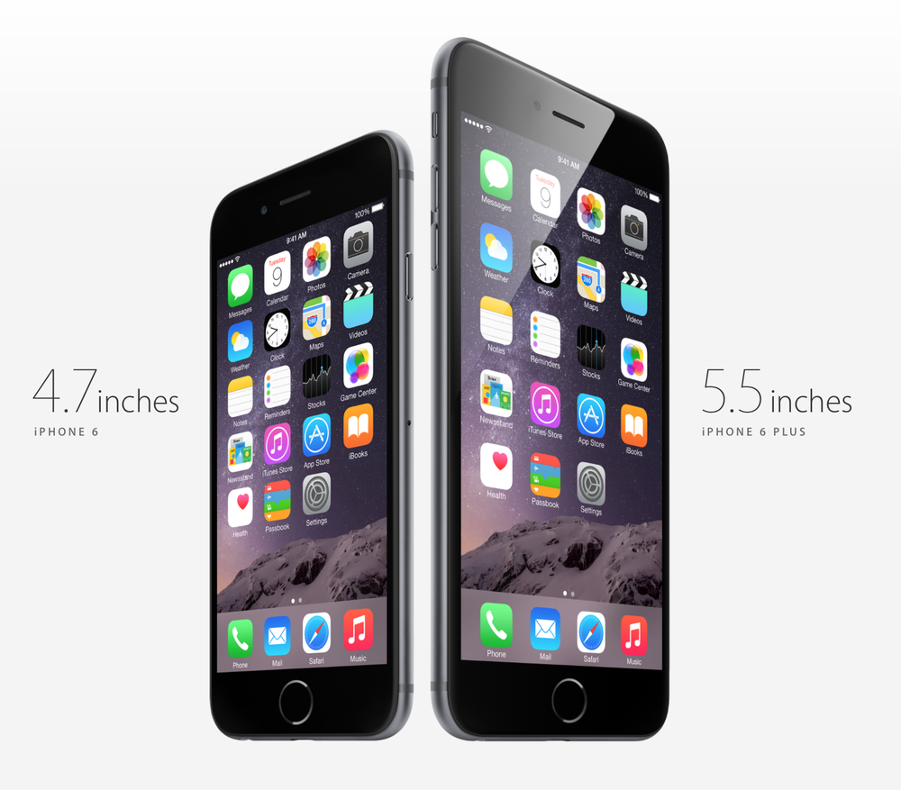 The iPhone 6 and the iPhone 6 Plus are Apple's latest smartphones that will go on sale this Friday in the US (Source: Apple.com)