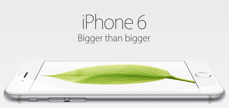 Apple's latest iPhone 6 is bigger only physically not in terms of memory capacity, the base model is still cost $199 and comes with a paltry 16GB memory (Source: Apple.com)