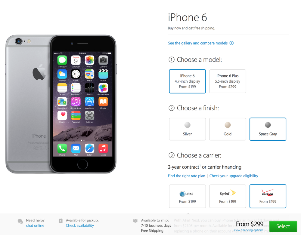 While iPhone 6 seems to be better in its availability, its shipping estimates is still almost 10 days (Source: Apple.com)