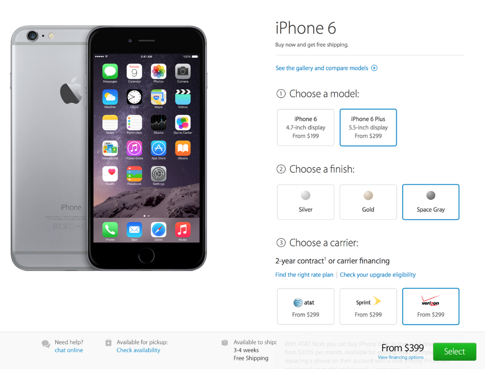 iPhone 6 Plus seems to have clearly outsold Apple's expectation as the estimated shipping time for it in US is almost a month (Source: Apple.com)