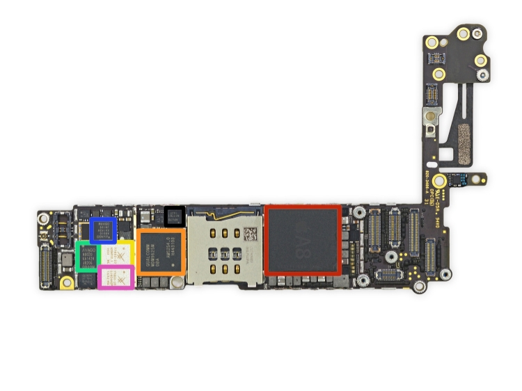 iPhone 6 internals devolved - what does it cost for Apple to make an iPhone 6? (Source: iFixit)