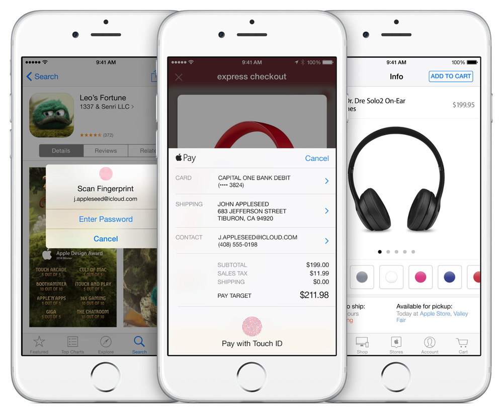 Apple's Touch ID implementation is the first one that actually works, reliably (Source: Apple.com)